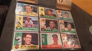 1960 Topps Baseball card lot of 9 cards NRMT