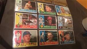 1960 Topps baseball card lot of 9 cards Real Nice