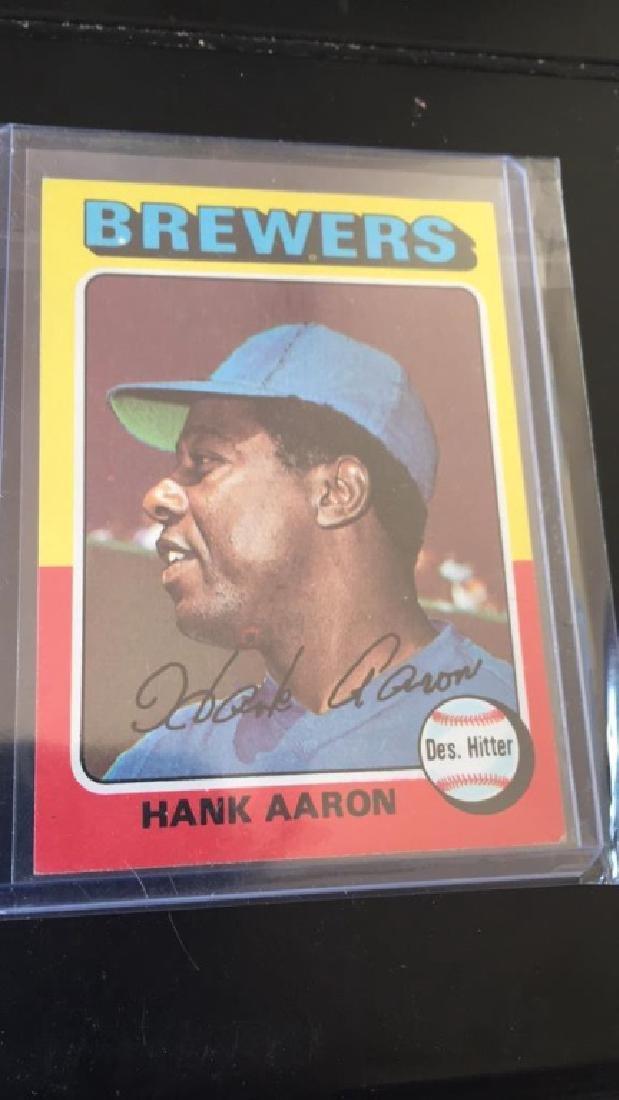 Hank Aaron 1975 Topps nice shape