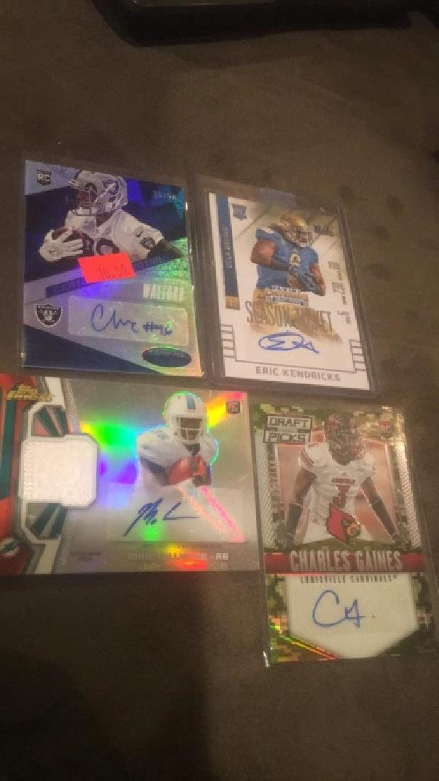 A lot of for football rookie autograph patch