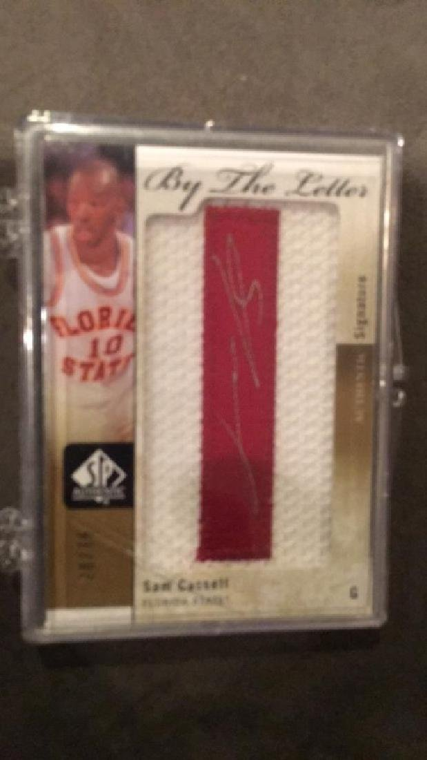 Sam Cassell 2011 12 SP authentic by the letter