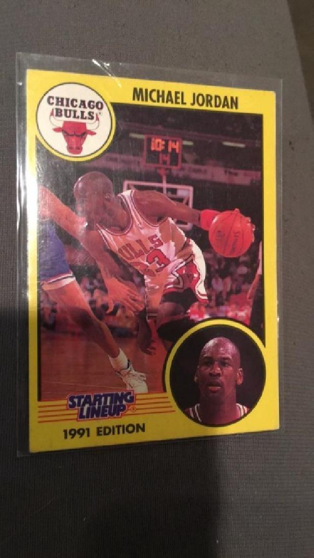 Michael Jordan 1991 starting lineup card nice