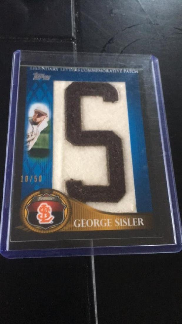 George Sisler 2009 Topps patch