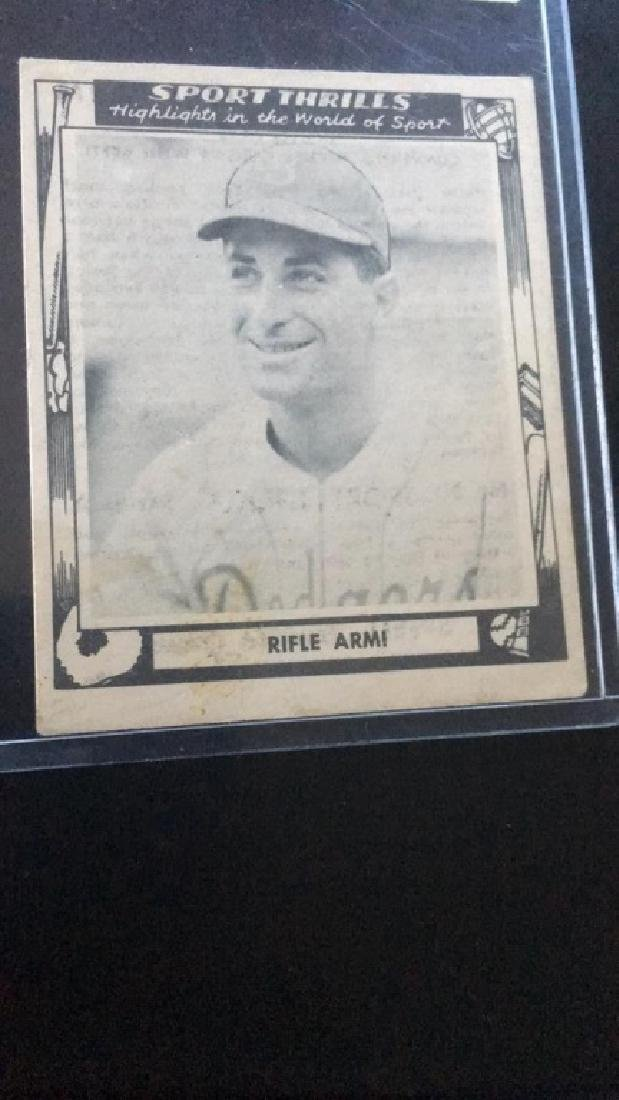 Carl Furillo 1948 Sewell Rifle Arm