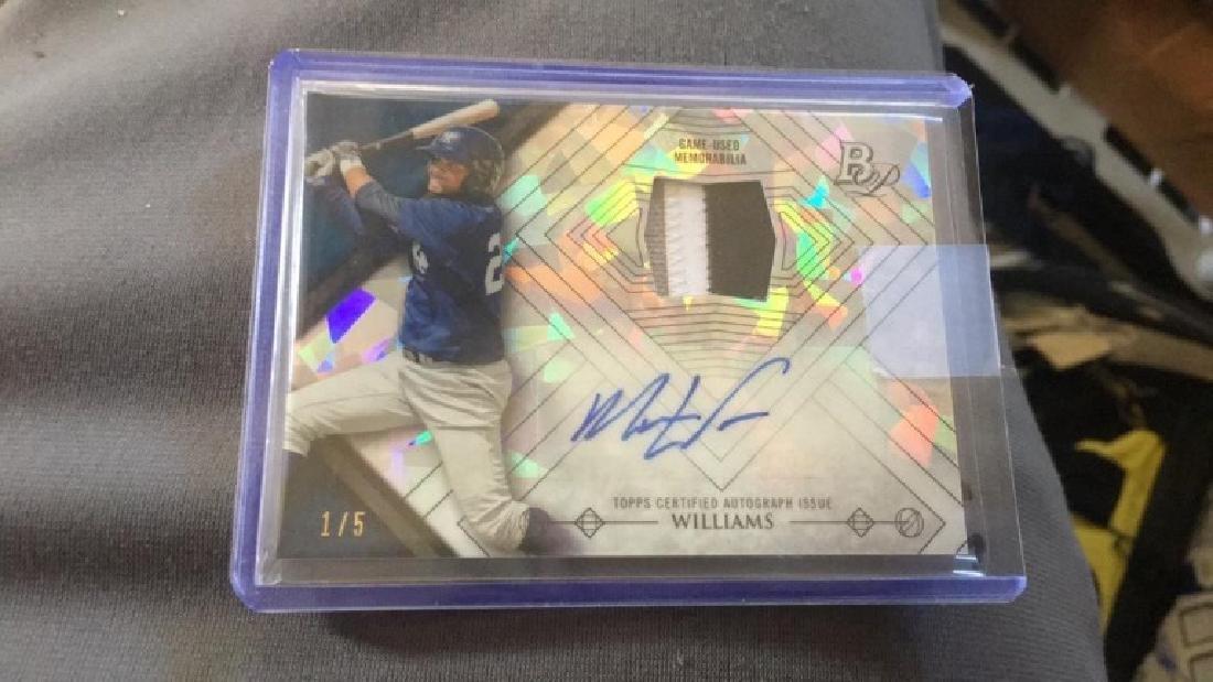 Mason Williams 2014 bowman platinum 3 color patch