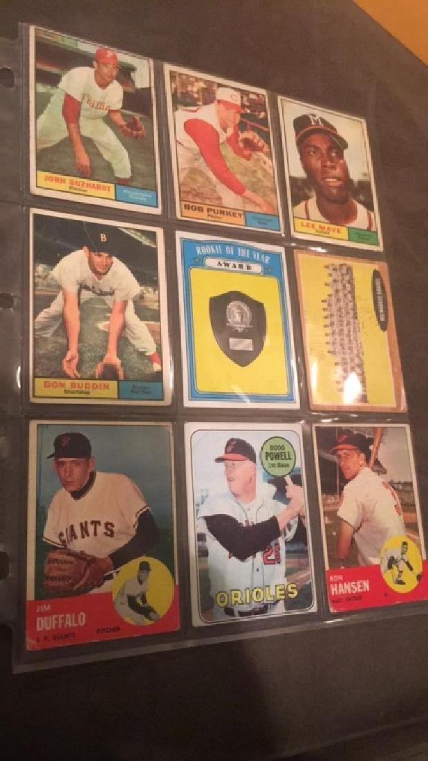 Mixed vintage baseball Carla nine cards