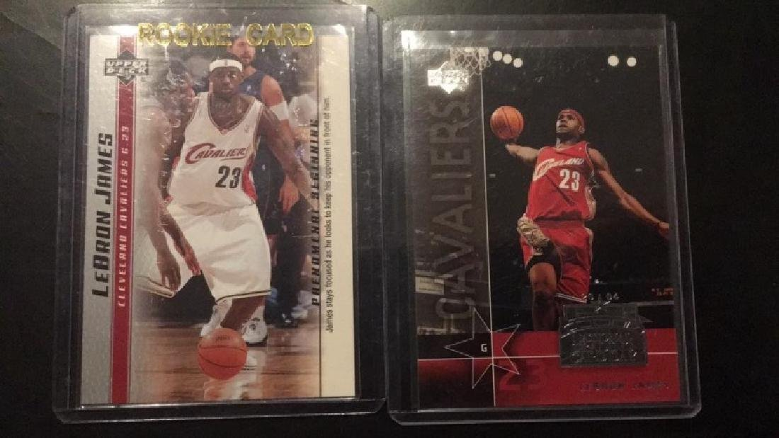 LeBron James to card rookie lot upper deck