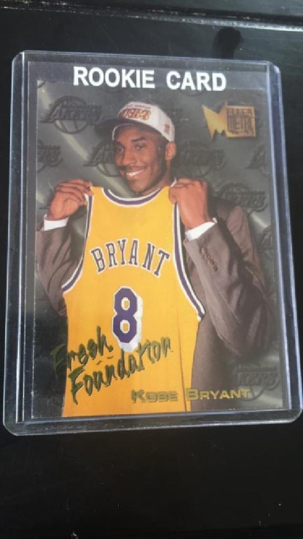 Kobe Bryant 1996-97 fleer metal fresh foundation