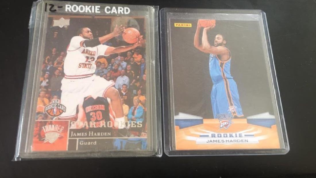 James Harden 2 card rookie lot upper deck and