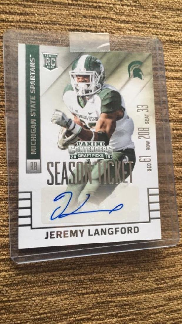 Jeremy Langford 2015 contenders football auto
