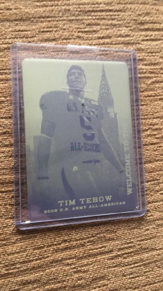 Tim Tebow leaf welcome to the big apple yellow