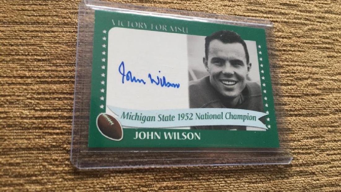 John Wilson 2003 autograph Michigan State
