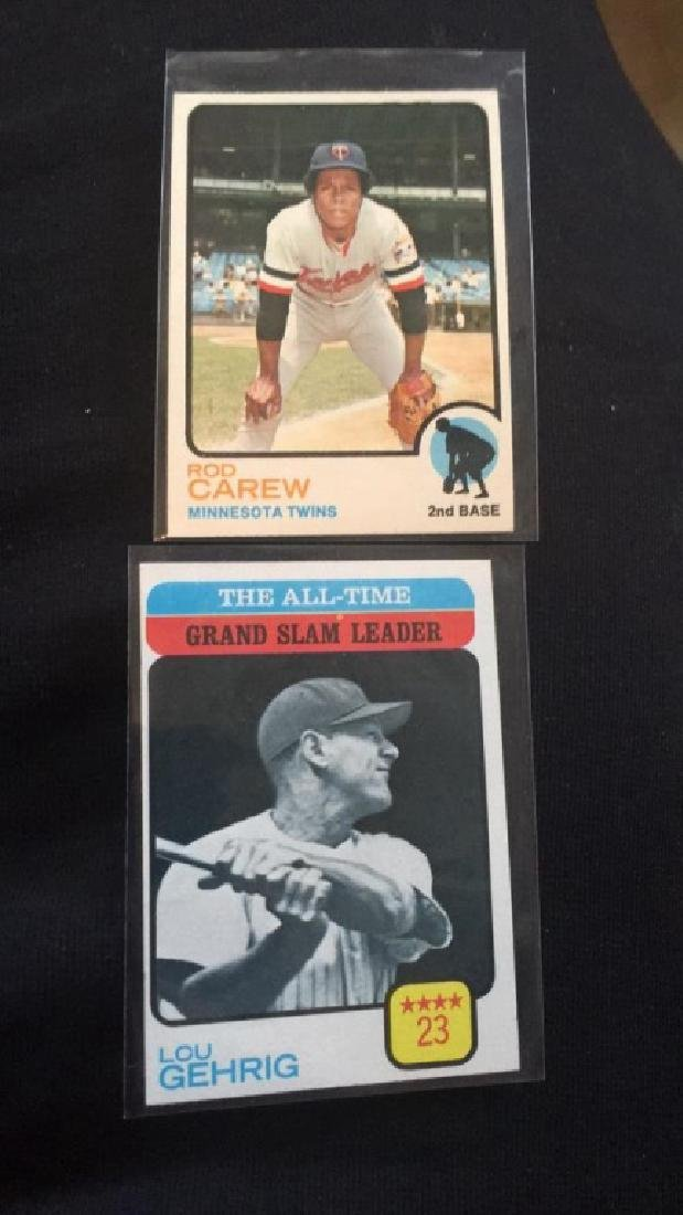 Rod Carew and Lou Gehrig 1973 Topps