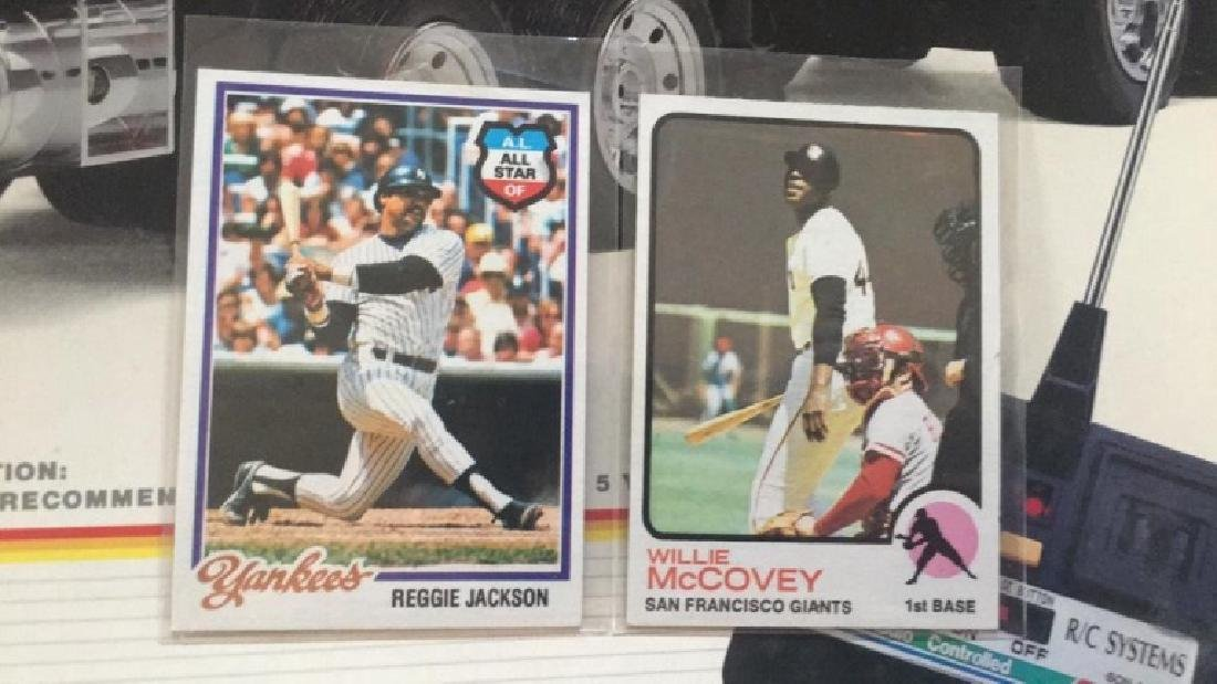 Willy McCovey 1973 types of Reggie Jackson 1978