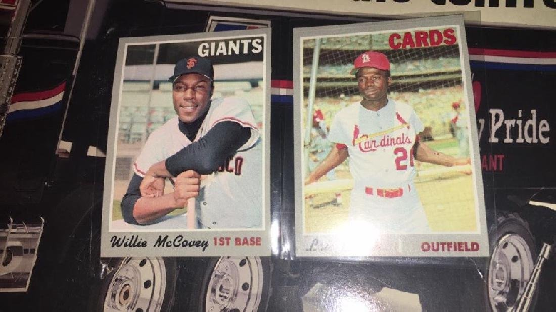 1970 tops William cubby and Lou Brock mint