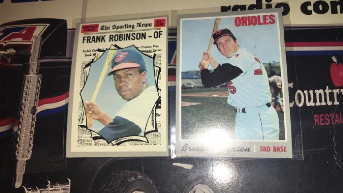 1970 tops Frank Robinson and Brooks Robinson in