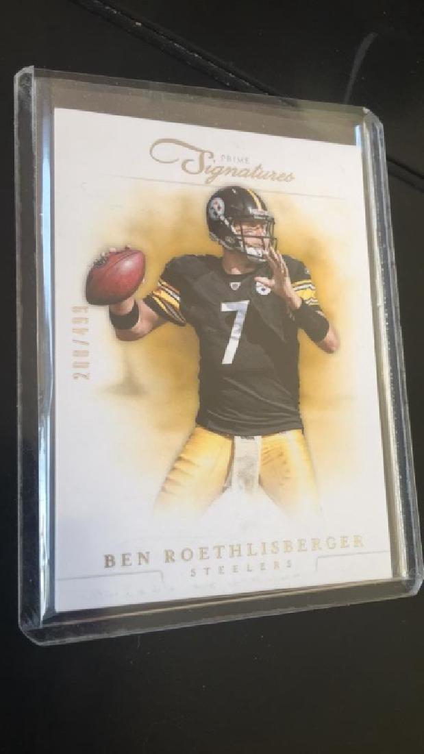 Ben Roethlisberger 2012 prime signatures SP /499