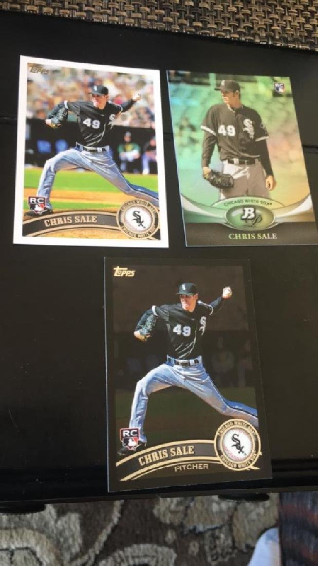 Chris Sale 3 card RC lot w Topps Black RC