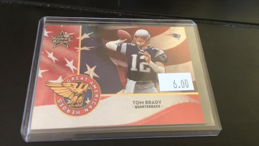 Tom Brady 2004 rookie stars Great American heroes