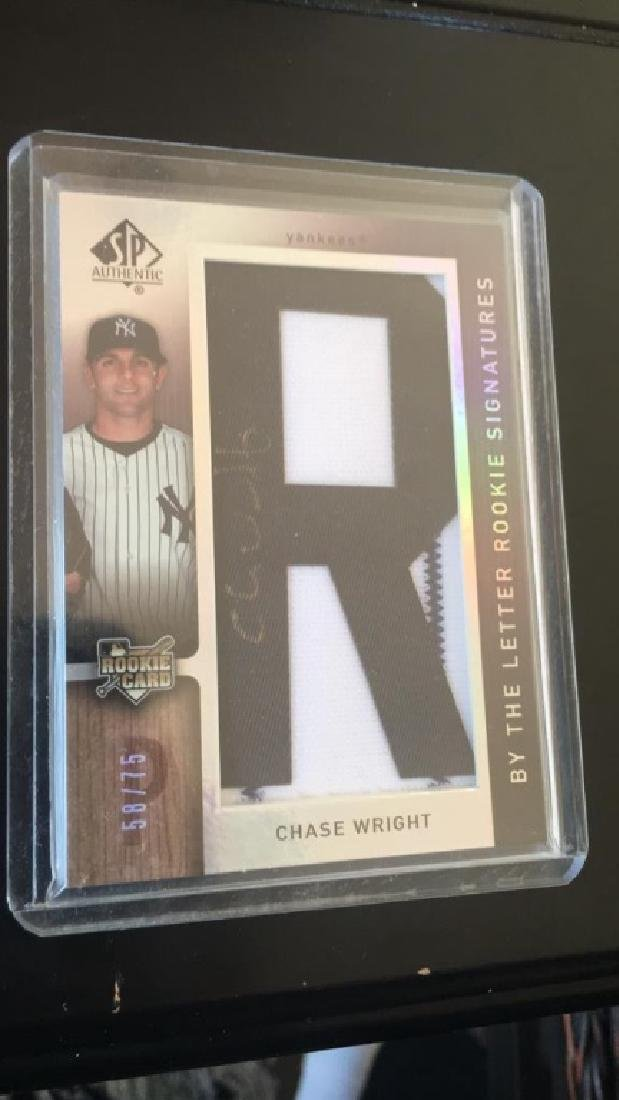 Chase right SP authentic by the letter signature