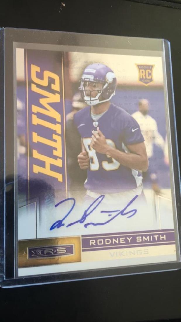 Rodney Smith 2013 rookie stars auto