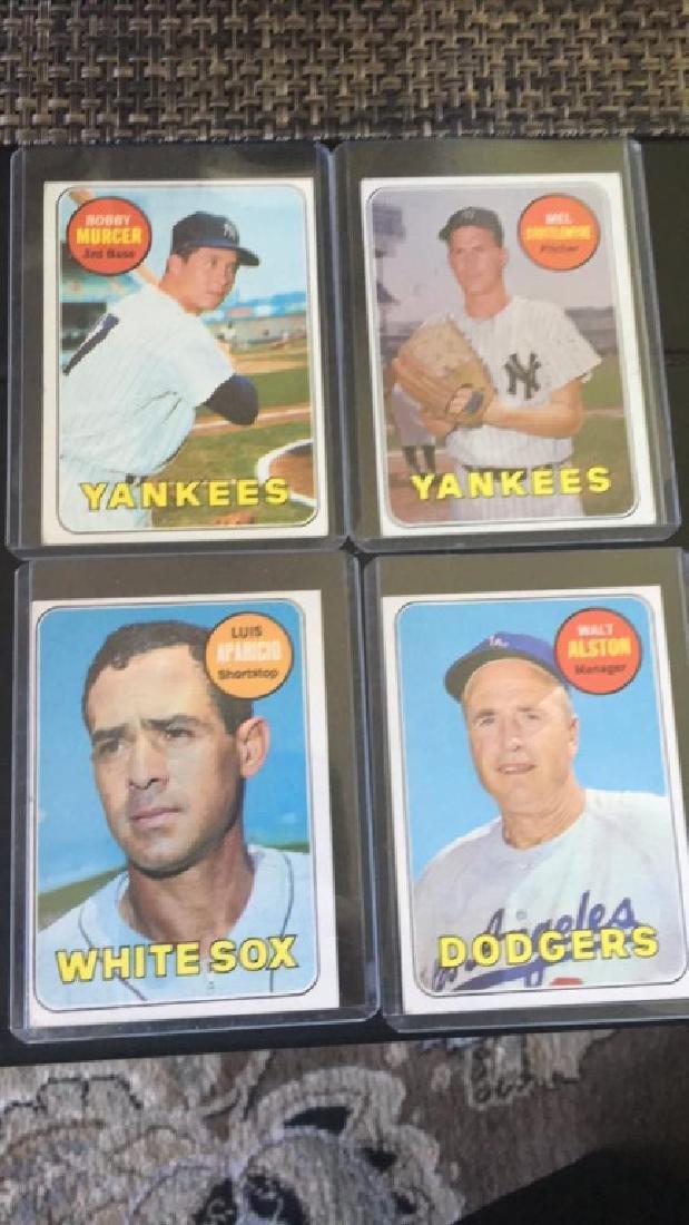 1969 Topps vintage baseball card lot