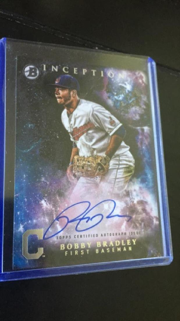 Bobby Bradley 2016 inception auto
