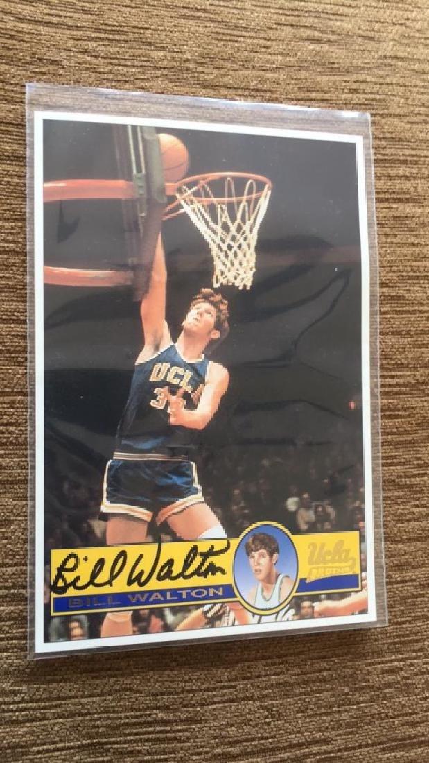 Bill Walton on card autograph 100% real