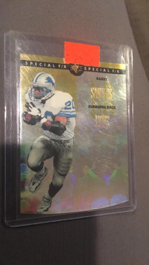 Barry Sanders 1996 SP special FX insert really