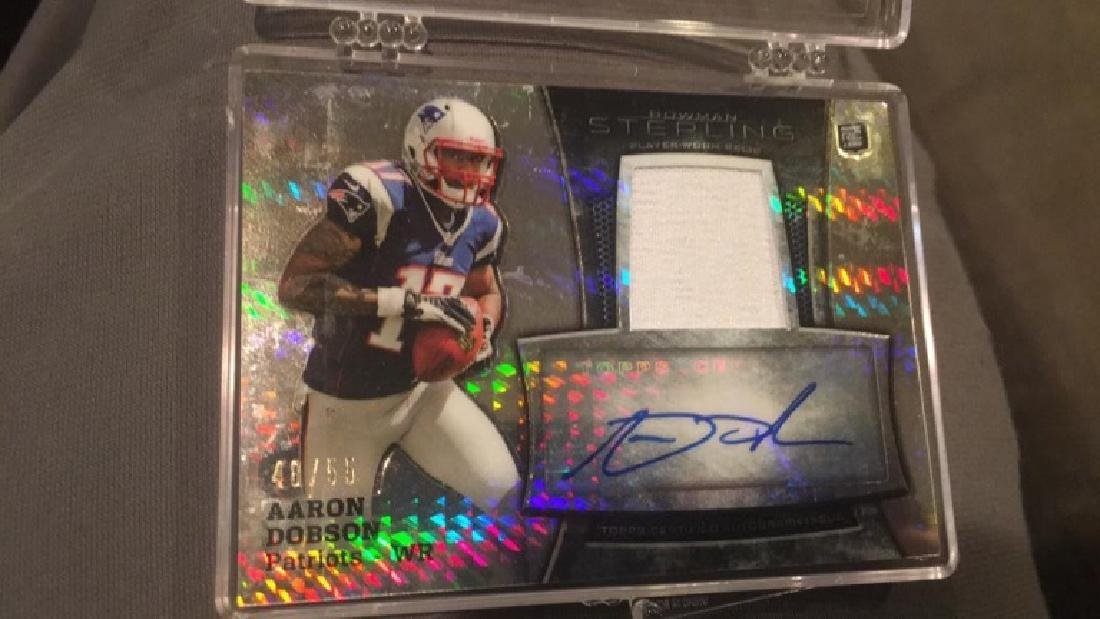 Aaron Dobson Bowman Sterling patch auto/55 Rookie