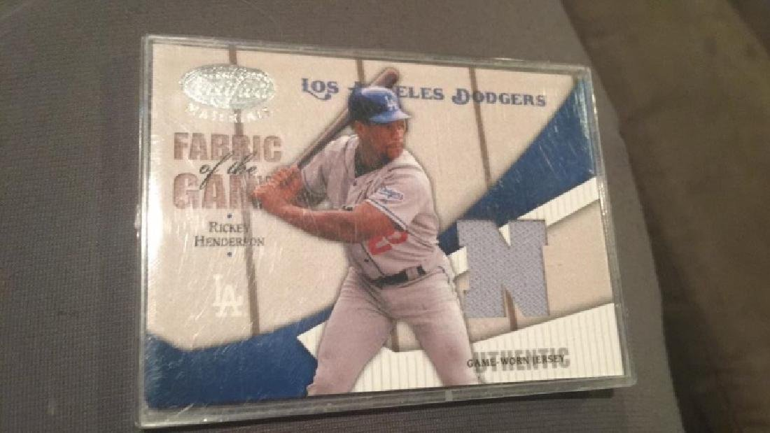 Ricky Henderson 2004 with certified fabric of the