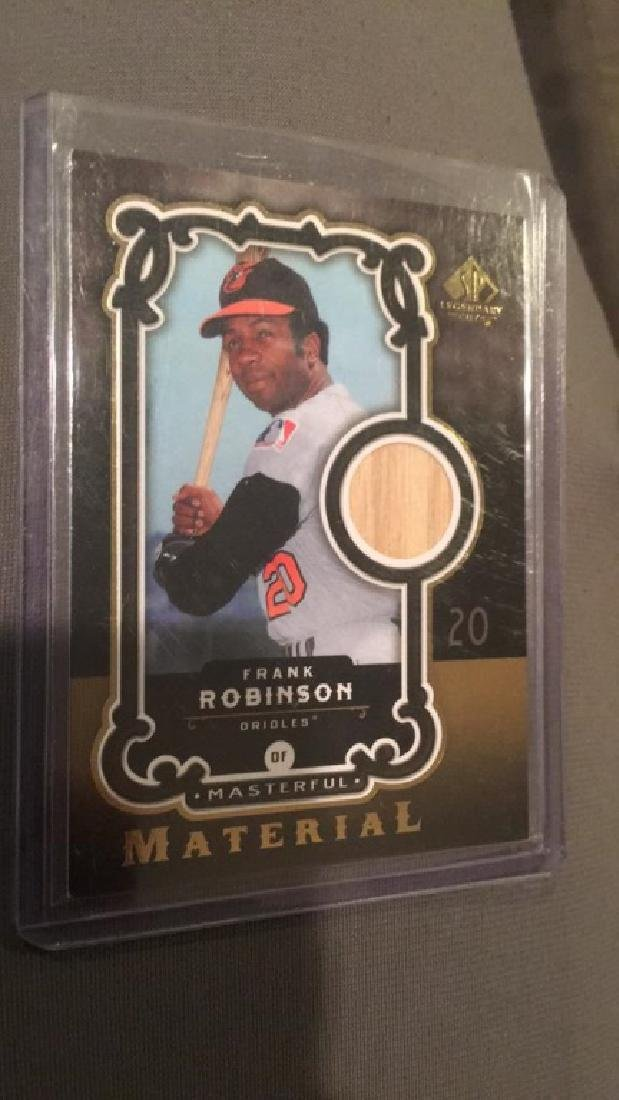 Frank Robinson SP legendary cuts back card 2007
