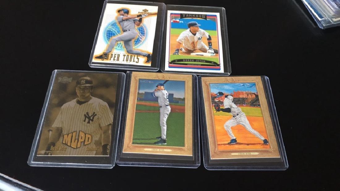Derek Jeter five card lot with super tools insert