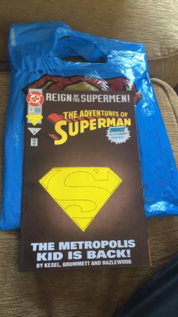 The adventures of Superman comic number 501+- bag