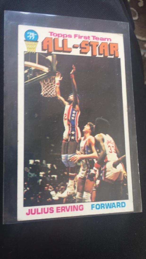 1976-77 Topps Basketball Julius Erving