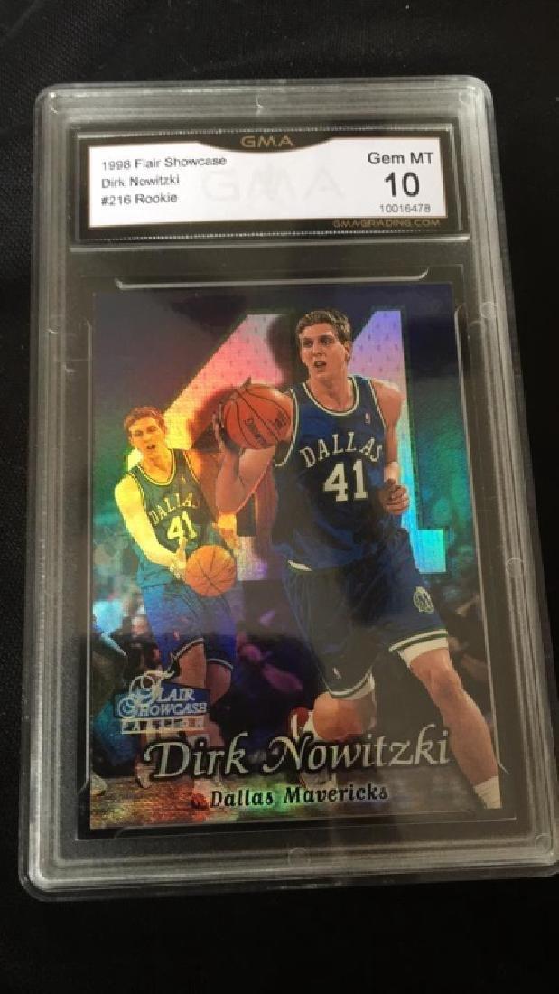 Dirk Nowitski 1998 Flair showcase RC graded 10