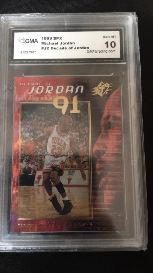 Michael Jordan 1990 9SPX number J2 decade of