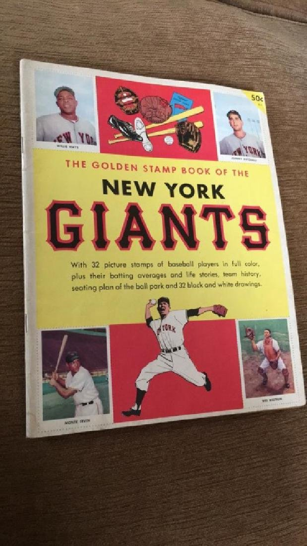 The golden stamp book of the New York Giants with