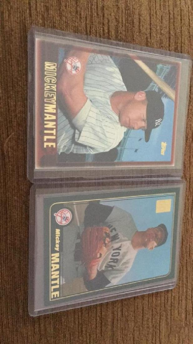 Mickey Mantle card tops baseball lot of  inserts