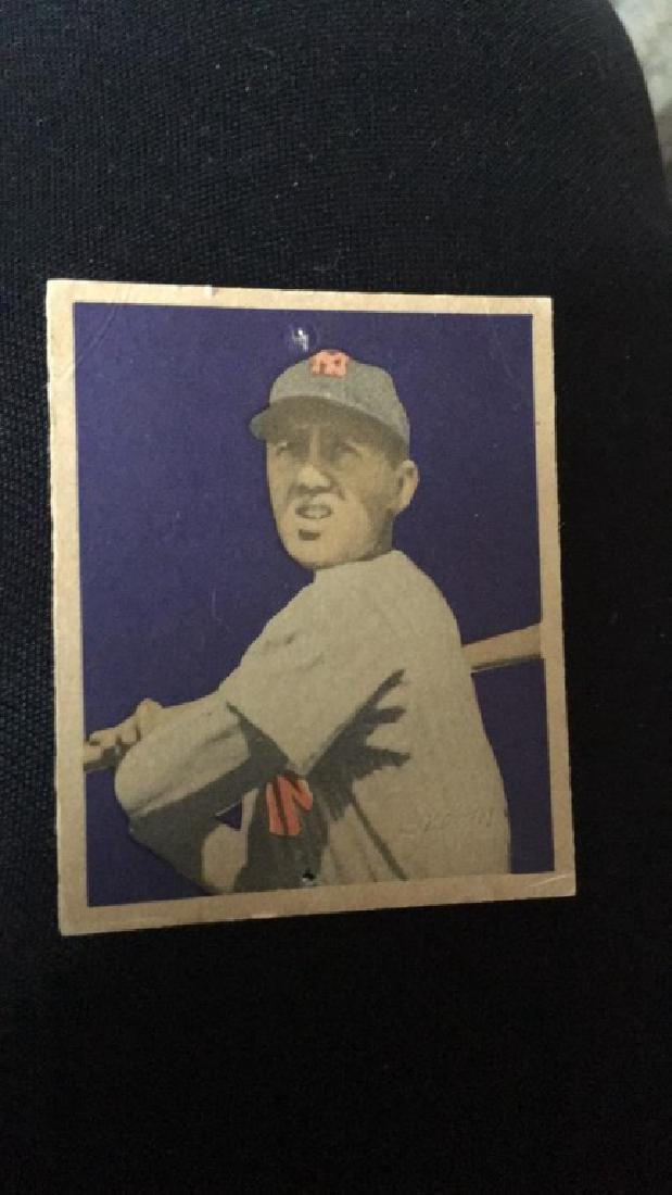 1949 Bowman Baseball Card Bobby Brown