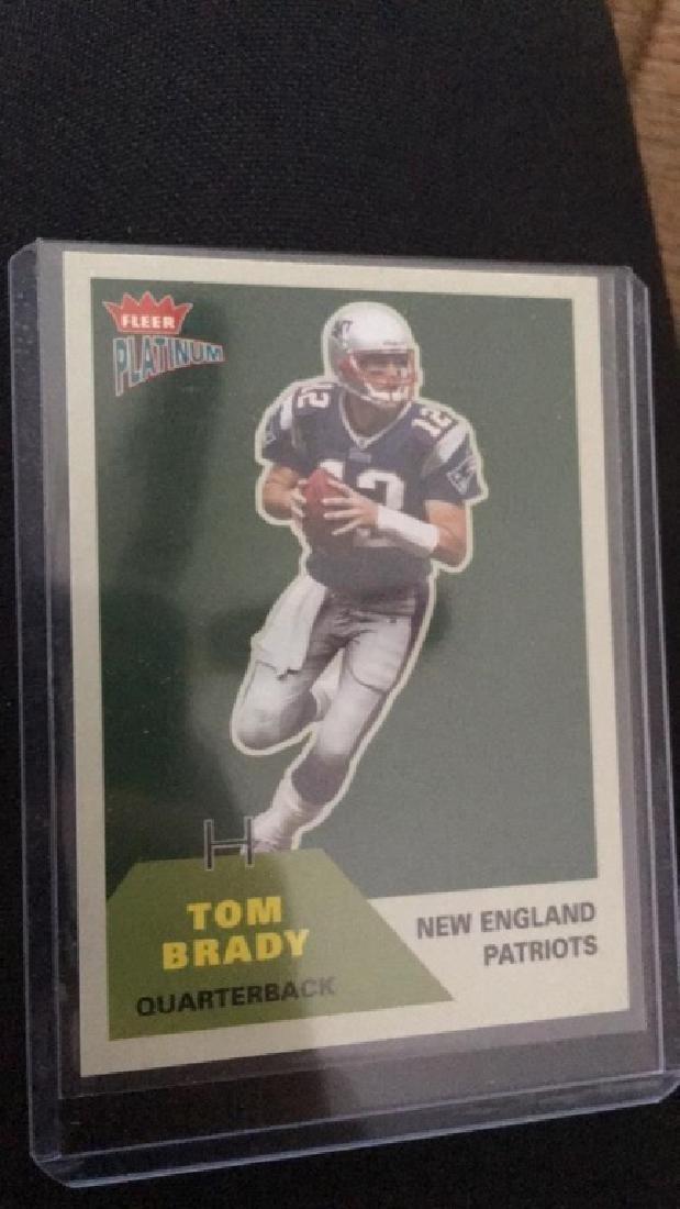 Tom Brady 2002 fleer platinum