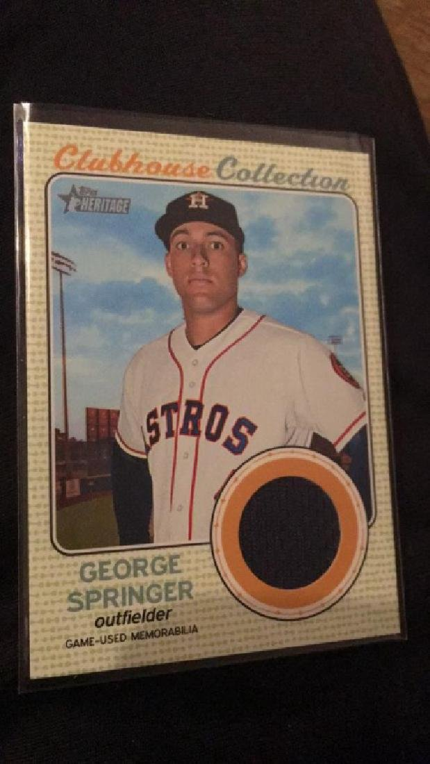 George Springer 2017 Topps heritage clubhouse