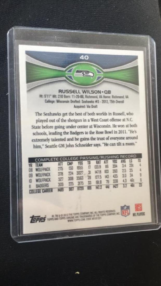 Russell Wilson 2012 Topps chrome rookie - 3
