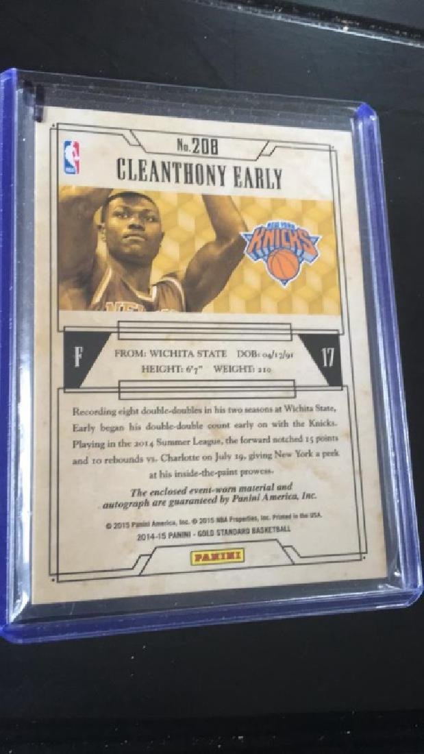 Cleanthony Early 2014/15 gold standard patch auto - 2