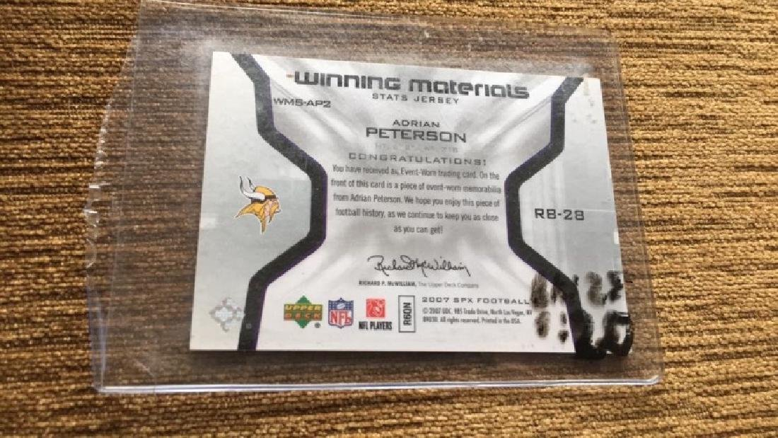 Adrian Peterson 2008 SPX rookie jersey card - 3