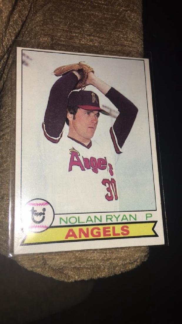 Nolan Ryan 1979 tops vintage baseball card nice - 2