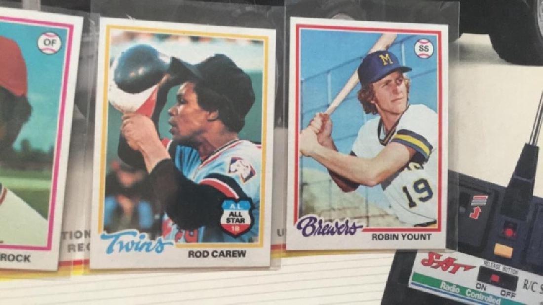 1978 tops Lou Brock Rod carew Robin Yount - 2