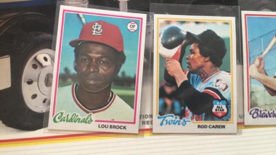 1978 tops Lou Brock Rod carew Robin Yount - 3