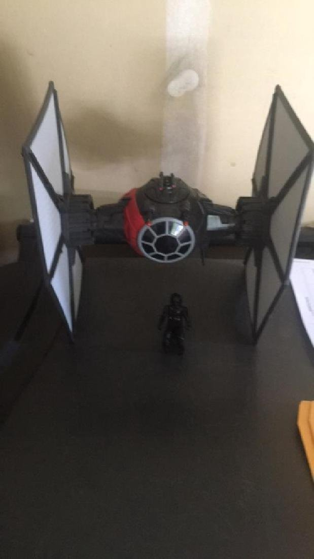 Star Wars tie fighter vehicle with Star Wars