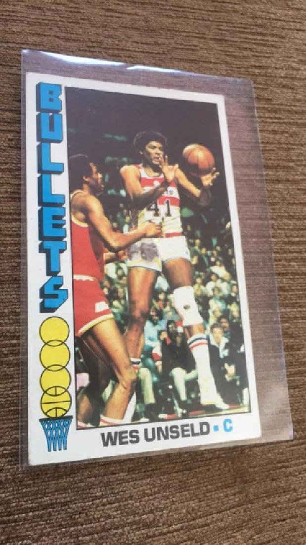 1976-77 Topps Basketball Wes Unseld